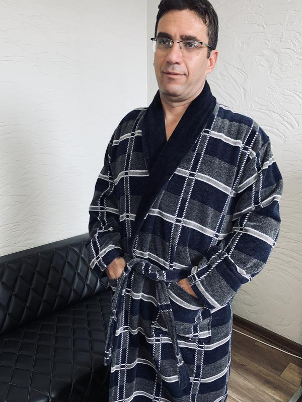 Халат махровый мужской шаль.