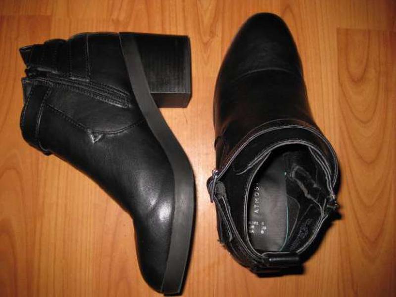Зимние весенние ботинки на среднем каблуке atmosphere стелька ... - Фото 2