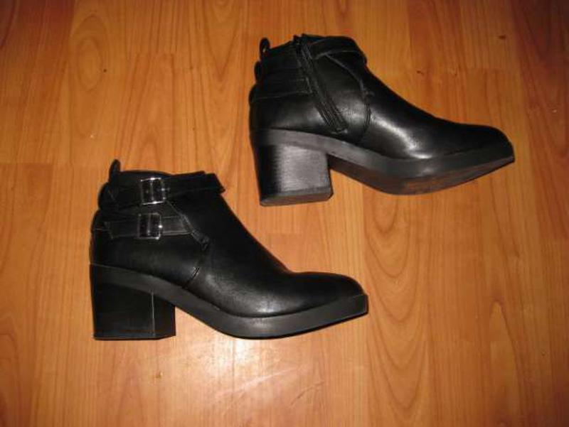 Зимние весенние ботинки на среднем каблуке atmosphere стелька ... - Фото 3