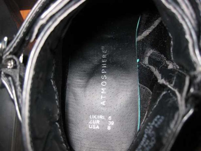 Зимние весенние ботинки на среднем каблуке atmosphere стелька ... - Фото 5