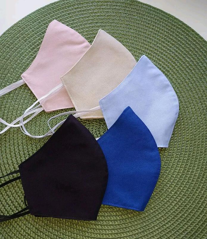 Многоразовые маски хлопок однотонная маска