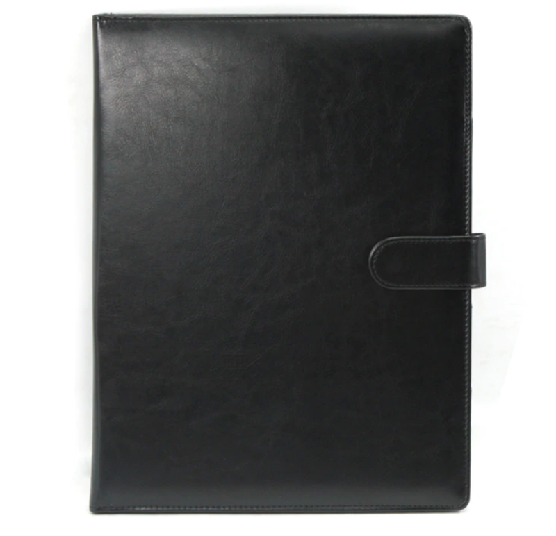Новая кожаная папка клатч для документов и бумаг цвет черный, ... - Фото 3