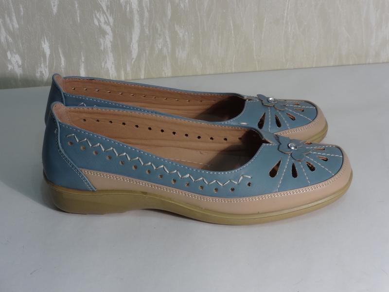 Легкие комфортные туфельки макасины , р.36-36,5_ - Фото 2