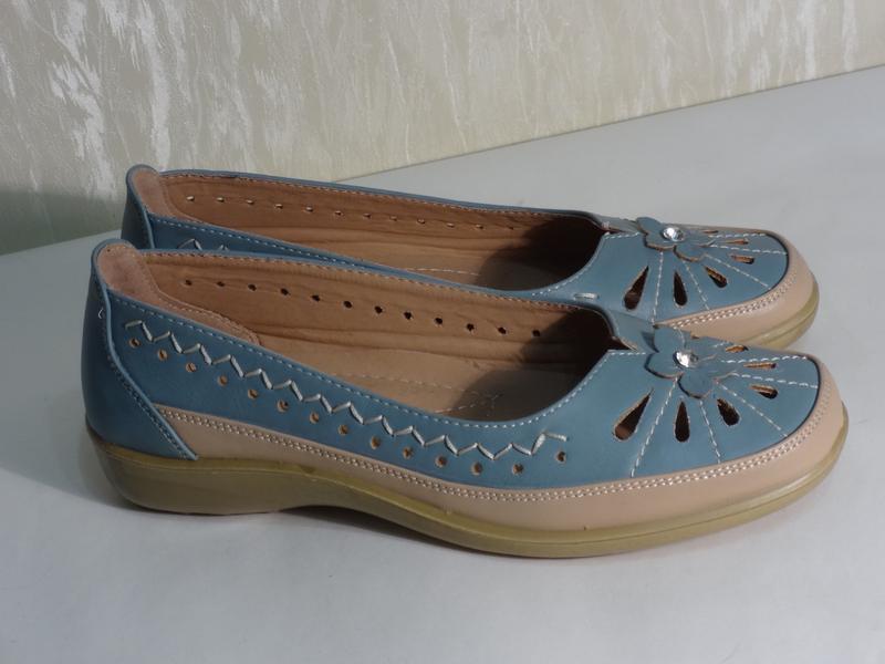 Легкие комфортные туфельки макасины , р.36-36,5_ - Фото 5