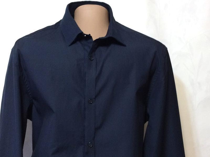 Стильная приталенная рубашка h&m, р.44-46_