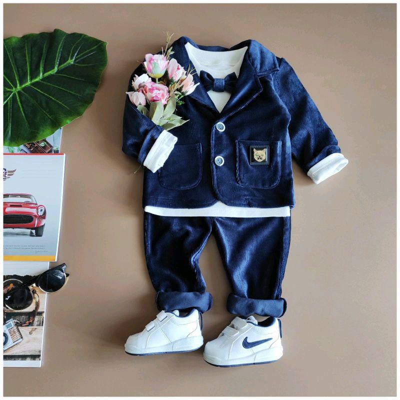 Нарядный костюм для мальчика с пиджаком на 1-2 года