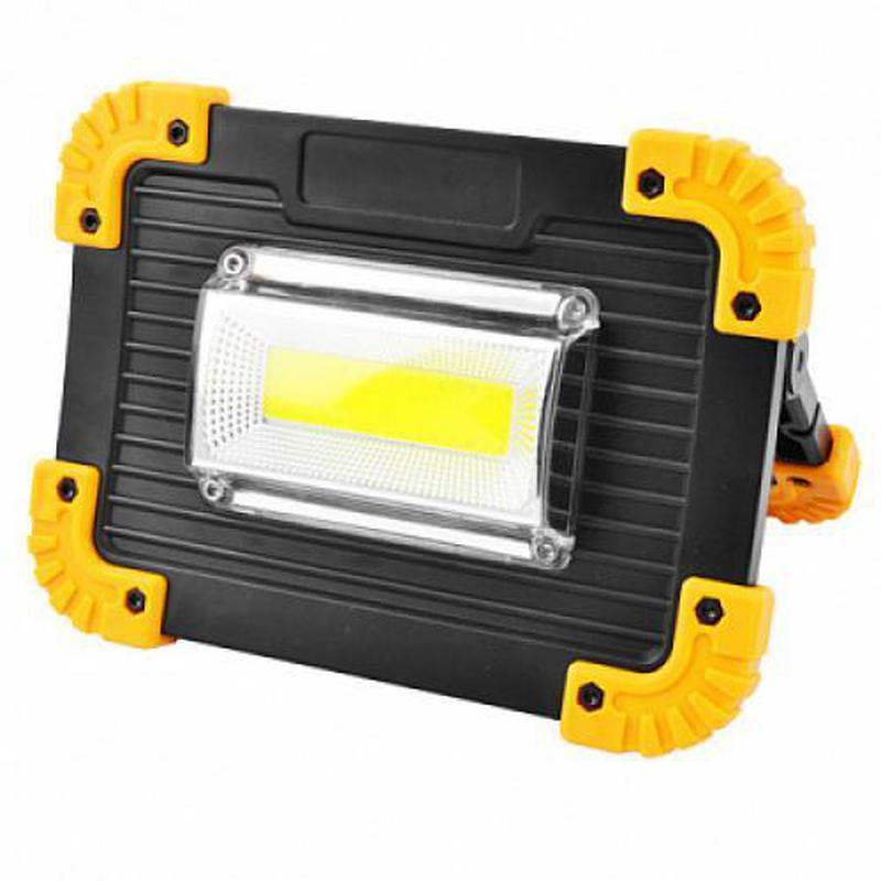 Прожектор светодиодный L811-20W-COB+1W, ЗУ micro USB, 2x18650/...