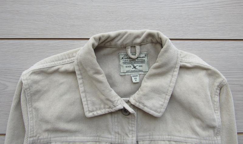 Акция! бежевая песочная куртка вельветовая джинсовка - Фото 2
