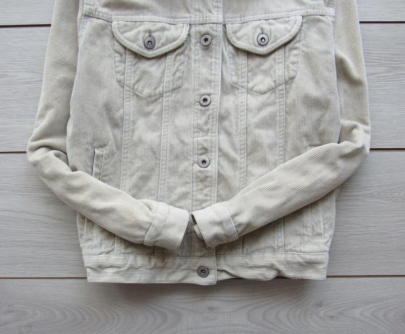 Акция! бежевая песочная куртка вельветовая джинсовка - Фото 3