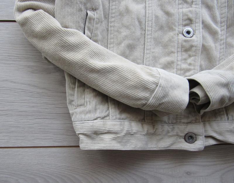 Акция! бежевая песочная куртка вельветовая джинсовка - Фото 4