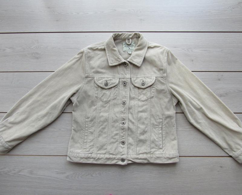 Акция! бежевая песочная куртка вельветовая джинсовка - Фото 7