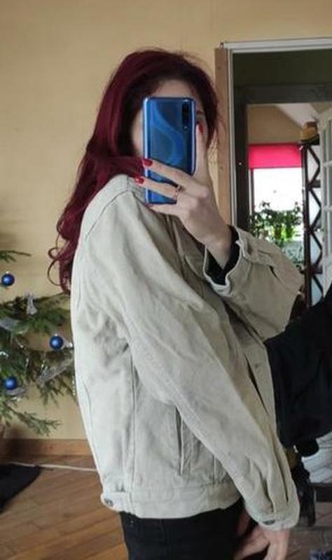 Акция! бежевая песочная куртка вельветовая джинсовка - Фото 10