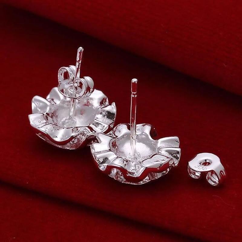 🏵серьги в серебре 925 цветы розы, новые! арт. 2215 - Фото 3