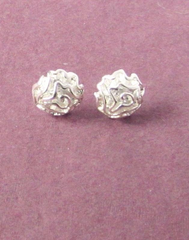 🏵серьги в серебре 925 цветы розы, новые! арт. 2215 - Фото 4