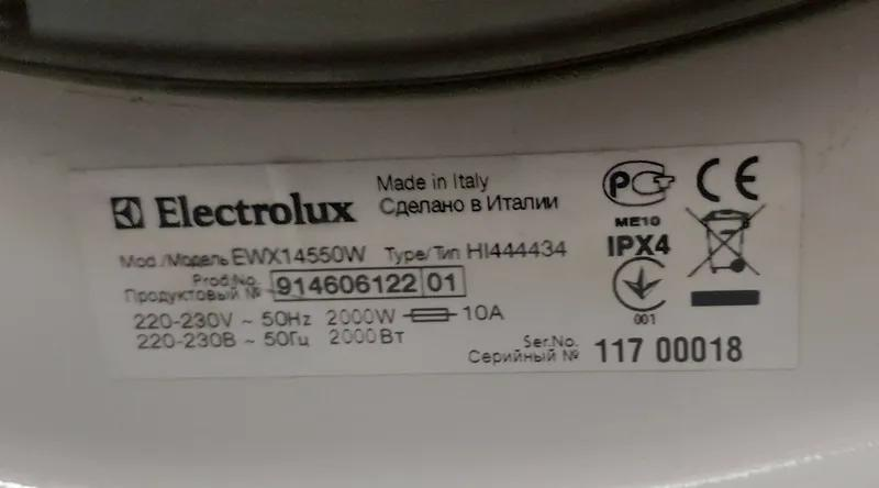 Встраиваемая стиральная машина Electrolux EWX14550W полностью раб - Фото 2