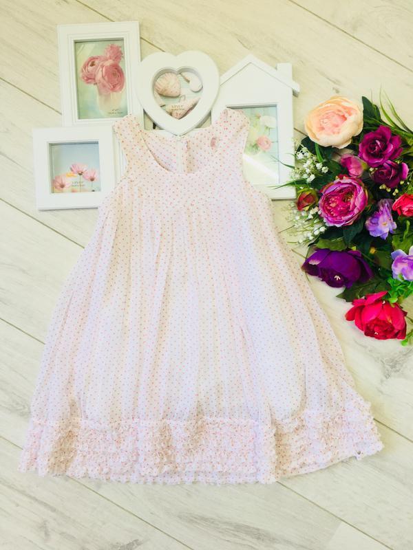 Воздушное платье с рюшами