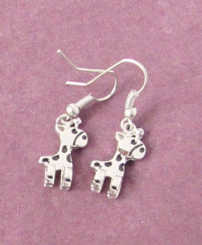 🏵стильные ювелирные серьги жирафы, новые! арт. 7005 - Фото 2