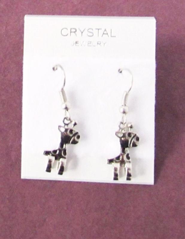 🏵стильные ювелирные серьги жирафы, новые! арт. 7005 - Фото 3