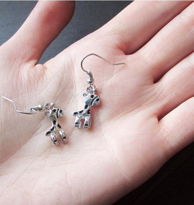 🏵стильные ювелирные серьги жирафы, новые! арт. 7005 - Фото 4