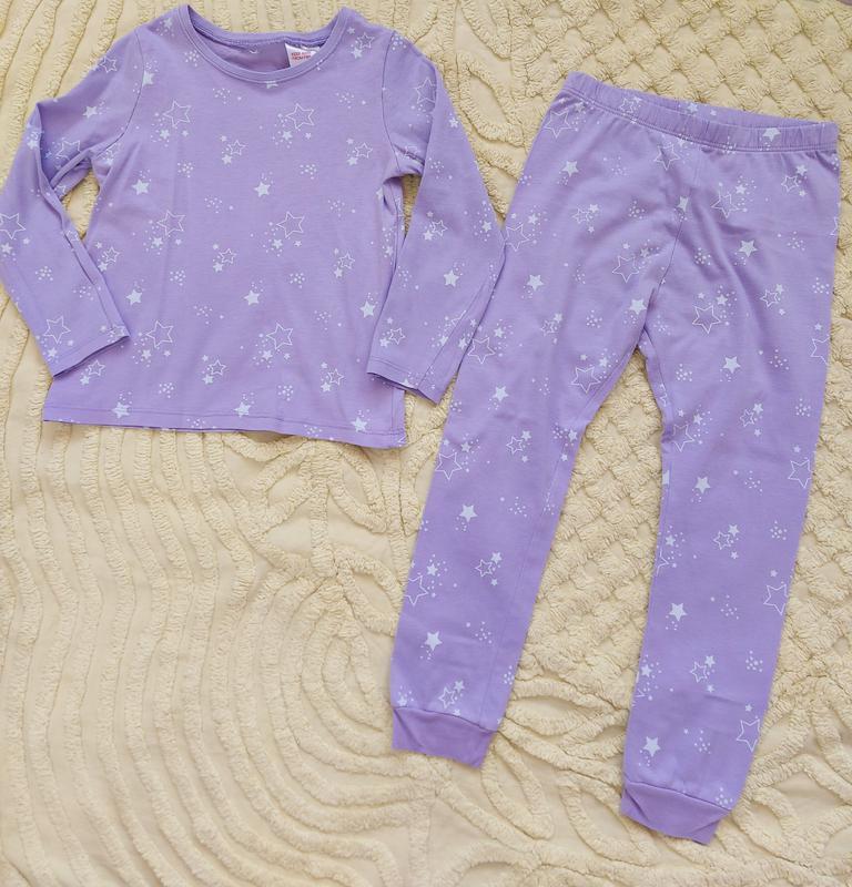 Пижама  для девочки  george   лиловая 2-3 года