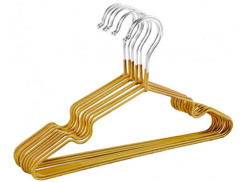 Набор детских металл. вешалок Золото(10 шт)
