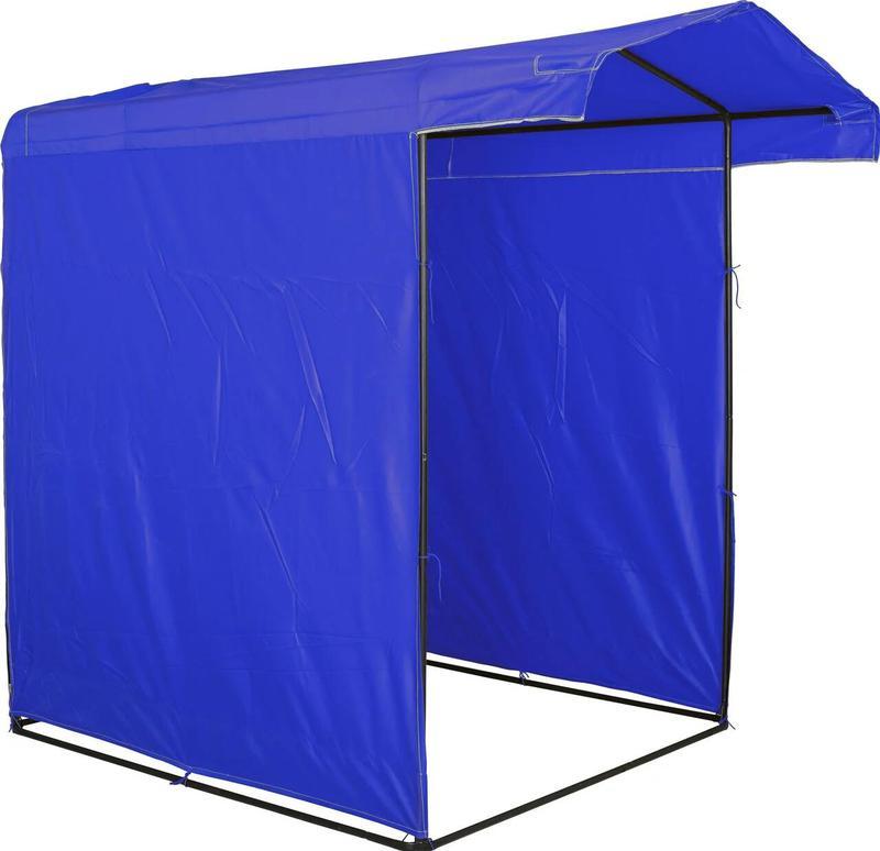 Торговая палатка 1.5х1.5 (1.5 на 1.5) метра СИНЯЯ