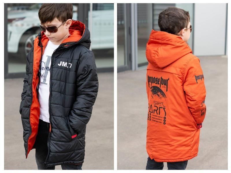 Куртка подростковая двухсторонняя демисезонная