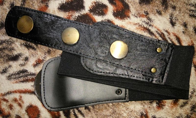 Пояс ремень черный резинка с пряжкой новый модный - Фото 3