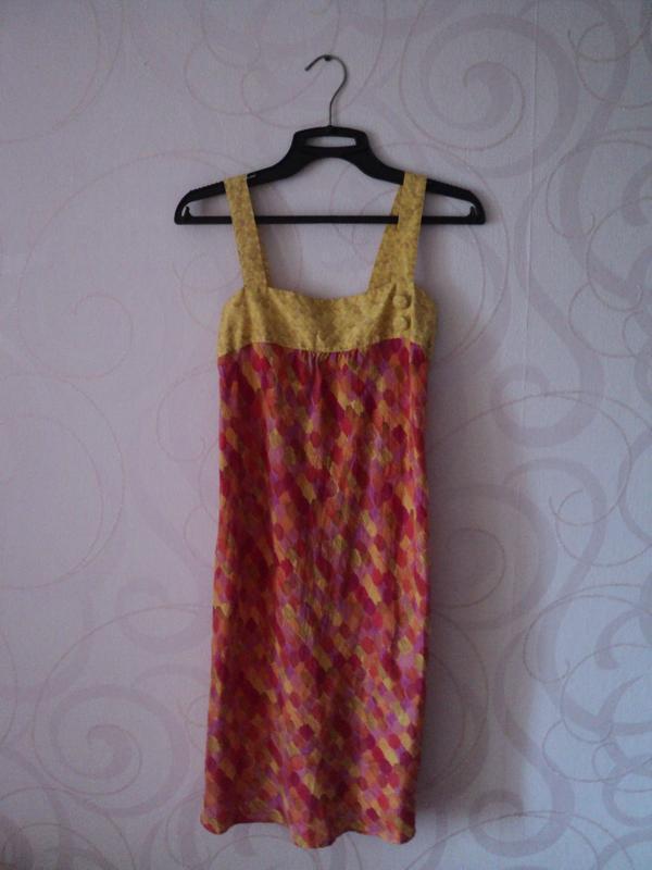 Шелковое платье-мини, летний сарафан из шелка, легкое платье ш...