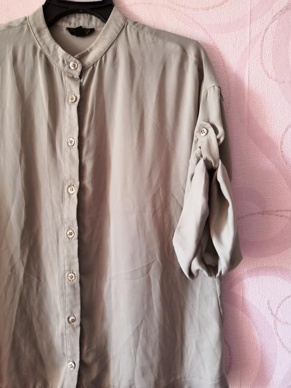 Серая рубашка в офис, рубашка на каждый день, рубашка воротник...