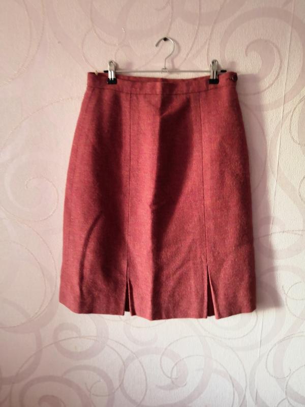 Шерстяная юбка, винтаж, ретро, юбка на осень, классическая юбк...