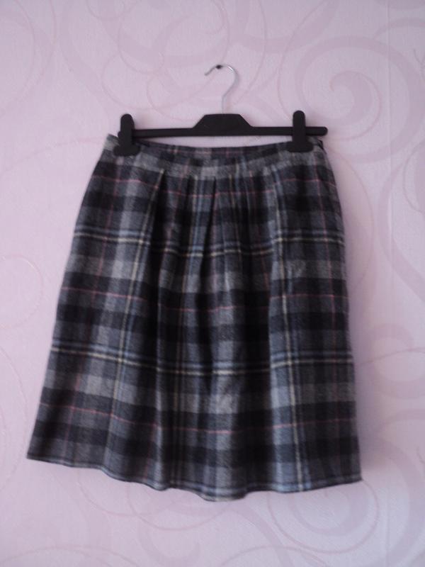 Юбка в клетку, шерсть, винтаж, шерстяная юбка, теплая юбка, юб...