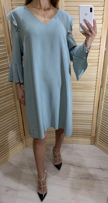 Легкое платье ментолового цвета nine