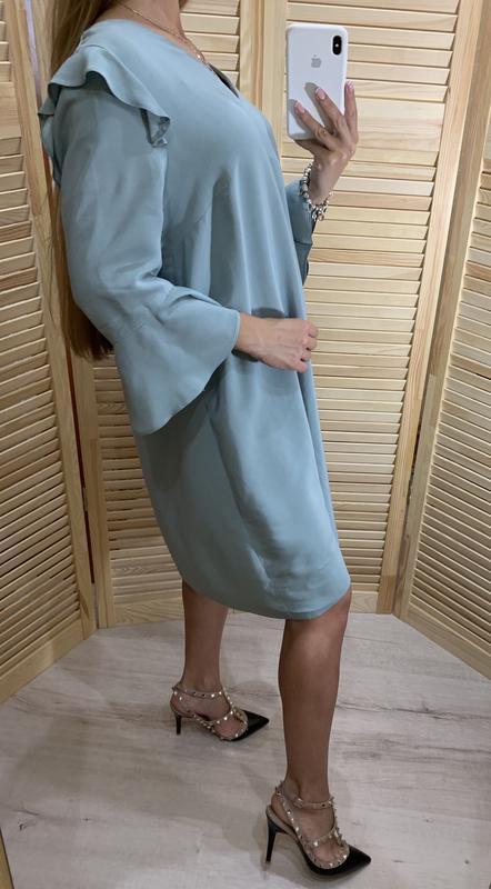 Легкое платье ментолового цвета nine - Фото 3