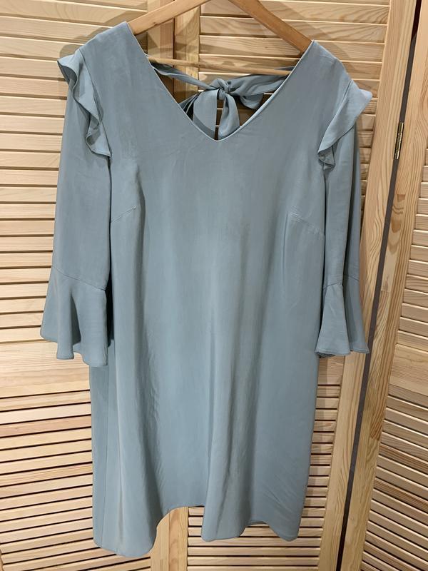 Легкое платье ментолового цвета nine - Фото 5