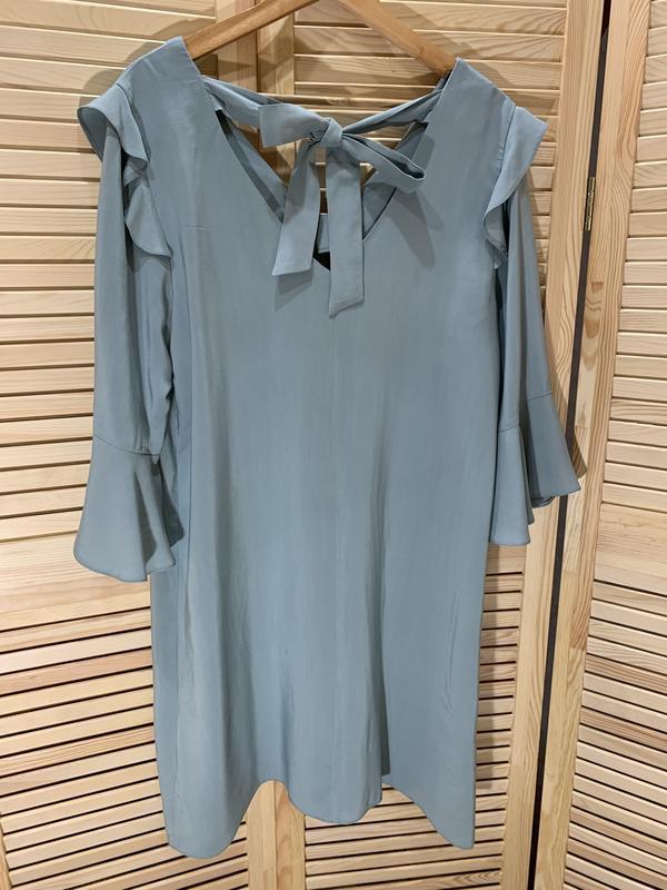 Легкое платье ментолового цвета nine - Фото 6