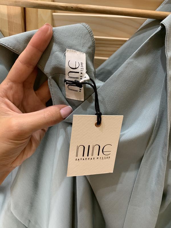 Легкое платье ментолового цвета nine - Фото 8
