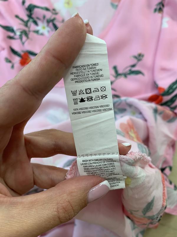 Платье на запах в цветах primark - Фото 5