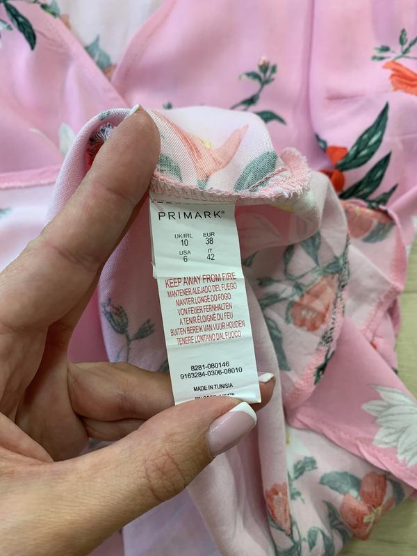 Платье на запах в цветах primark - Фото 6