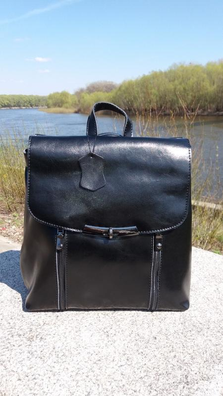 Рюкзак-сумка из натуральной кожи - Фото 2