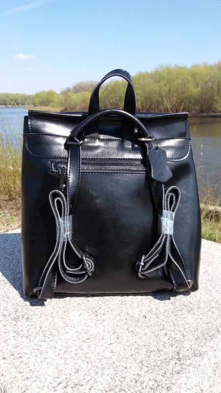 Рюкзак-сумка из натуральной кожи - Фото 3