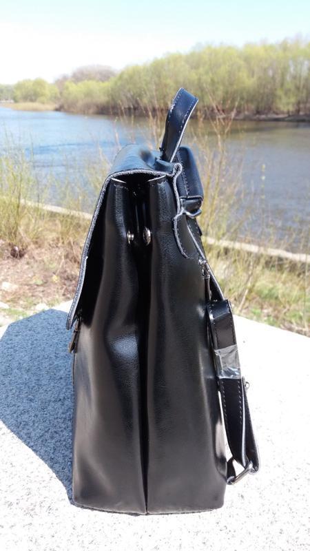 Рюкзак-сумка из натуральной кожи - Фото 4