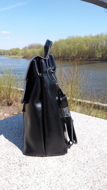 Рюкзак-сумка из натуральной кожи - Фото 5