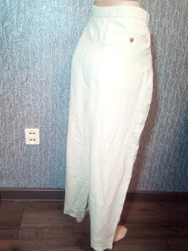 Свободные женские брюки штаны. лён. - Фото 2