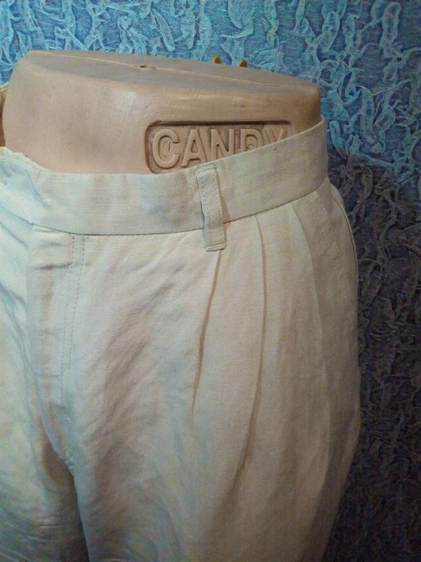 Свободные женские брюки штаны. лён. - Фото 3