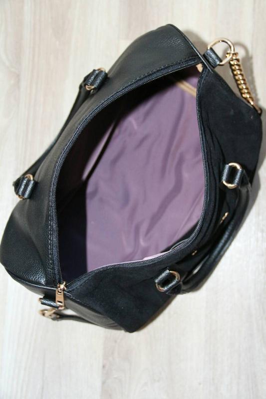 Замшевая сумка боченок - Фото 3