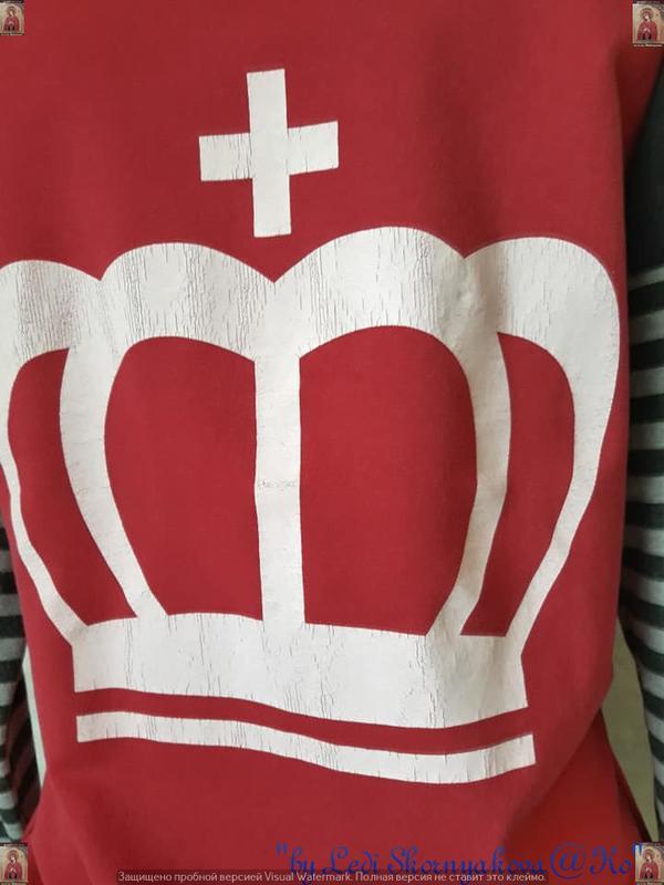 """Спортивный костюм в серо-розовом цвете с принтом """"звёзды.корон... - Фото 6"""