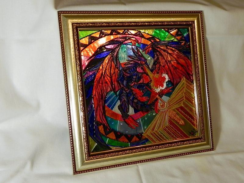 Витражная картина «Атака дракона» - Фото 2