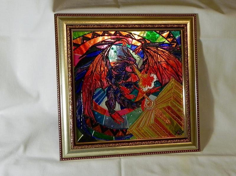 Витражная картина «Атака дракона» - Фото 3