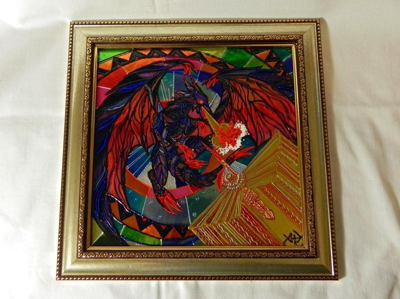 Витражная картина «Атака дракона» - Фото 4